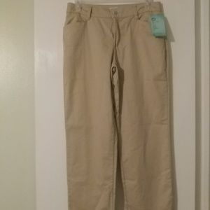 Lee relaxed fit khaki pants. Comfort waist. NWT.